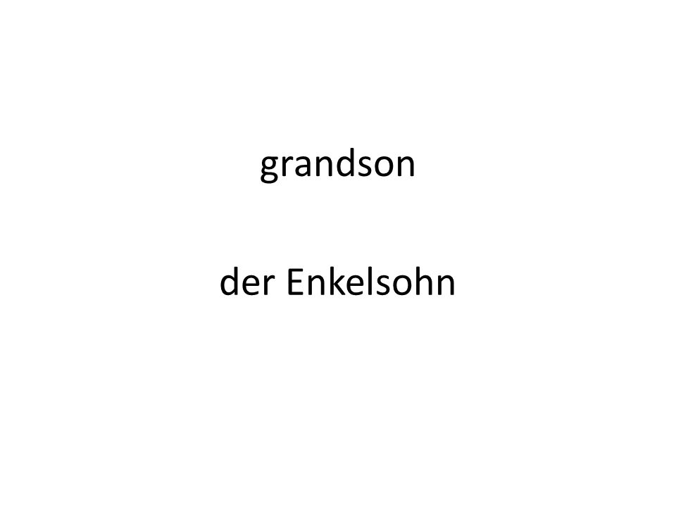 grandson der Enkelsohn