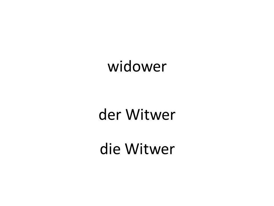 widower der Witwer die Witwer