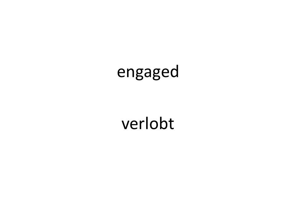 engaged verlobt