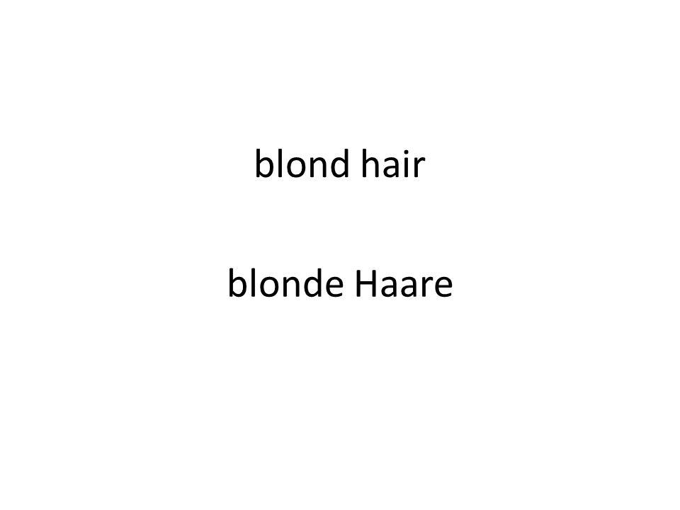 blond hair blonde Haare
