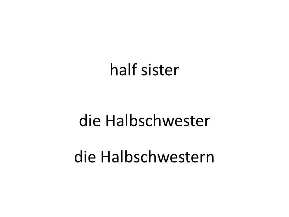 half sister die Halbschwester die Halbschwestern