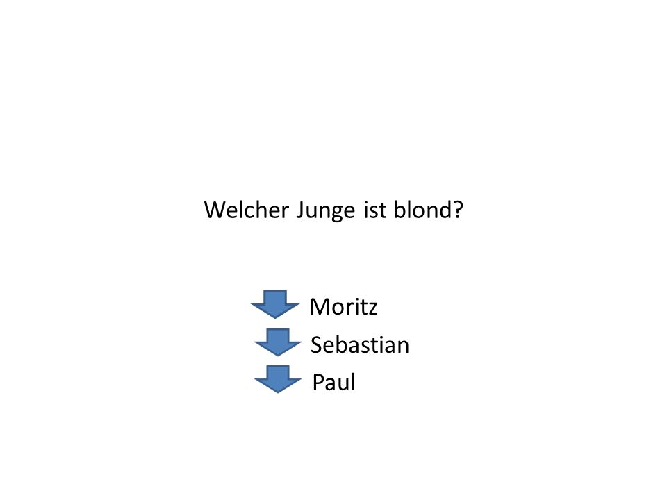 Welcher Junge ist blond? Moritz Sebastian Paul