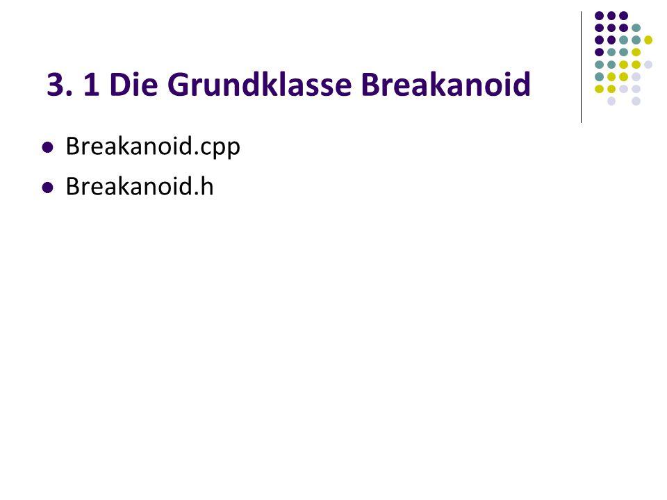 3. 1 Die Grundklasse Breakanoid Breakanoid.cpp Breakanoid.h