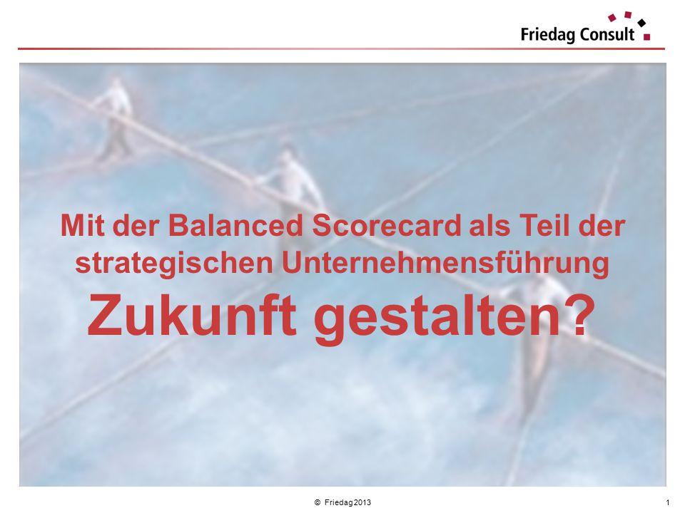 © Friedag 20131 Mit der Balanced Scorecard als Teil der strategischen Unternehmensführung Zukunft gestalten?