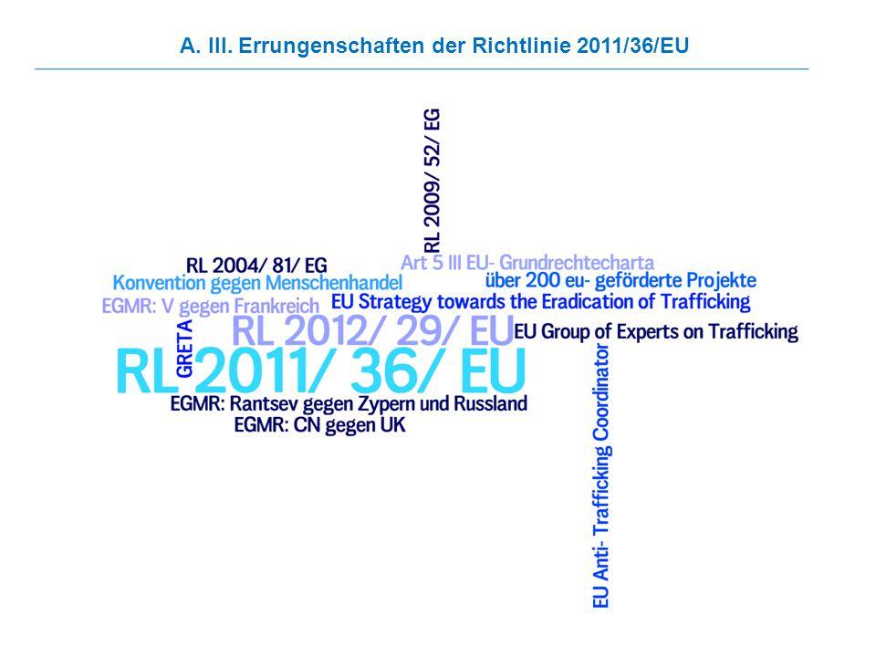 A. III. Errungenschaften der Richtlinie 2011/36/EU