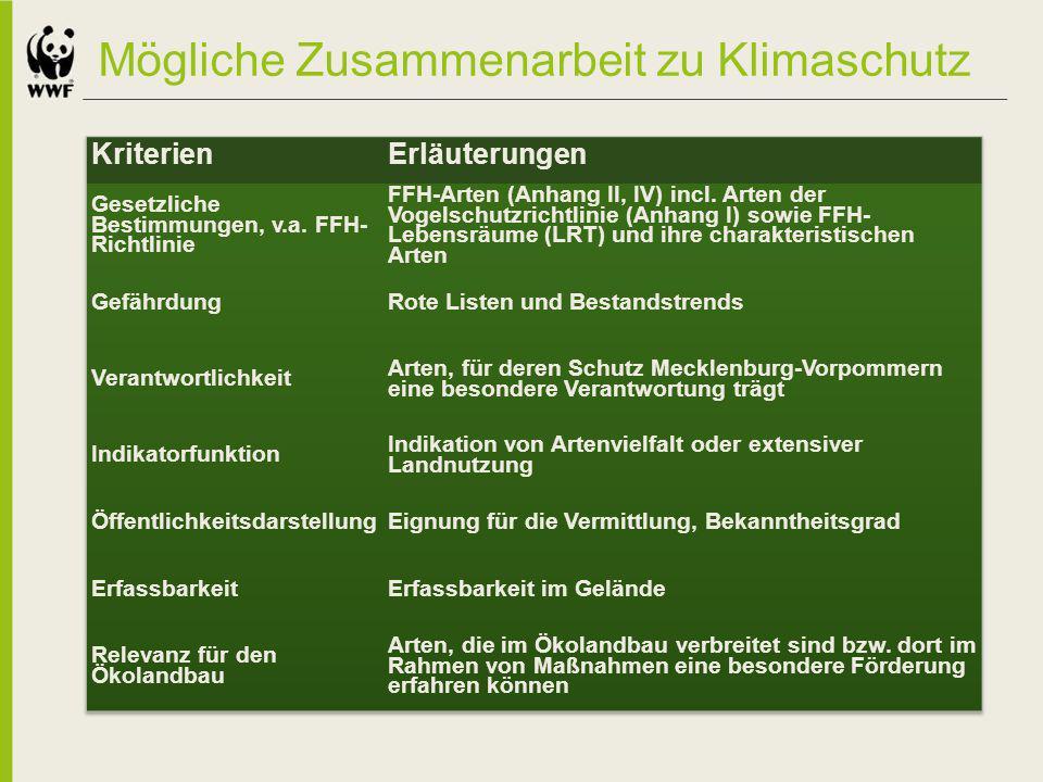 Mögliche Zusammenarbeit zu Klimaschutz