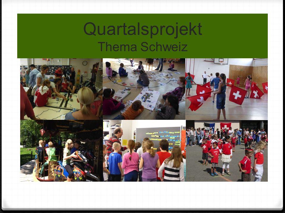 Quartalsprojekt Thema Schweiz