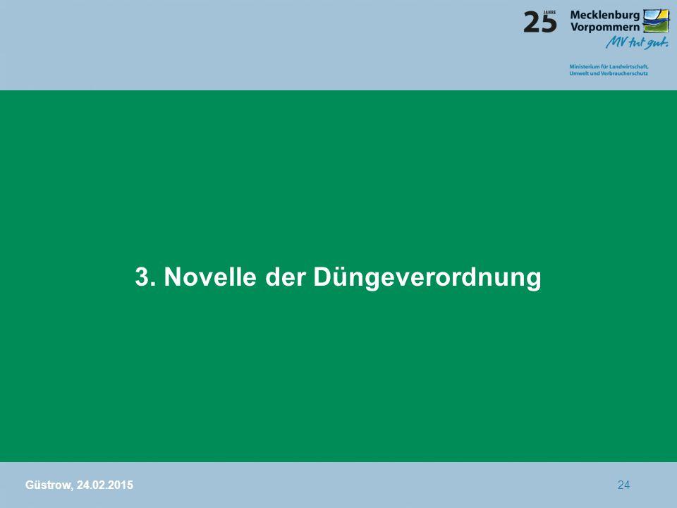 3. Novelle der Düngeverordnung Güstrow, 24.02.201524