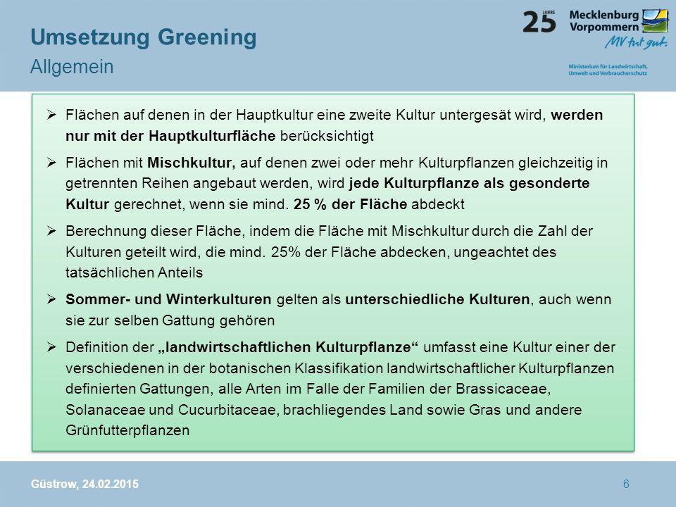 Mögliche Verknüpfung/Kombinationen ÖVF mit AUM Greening 1.