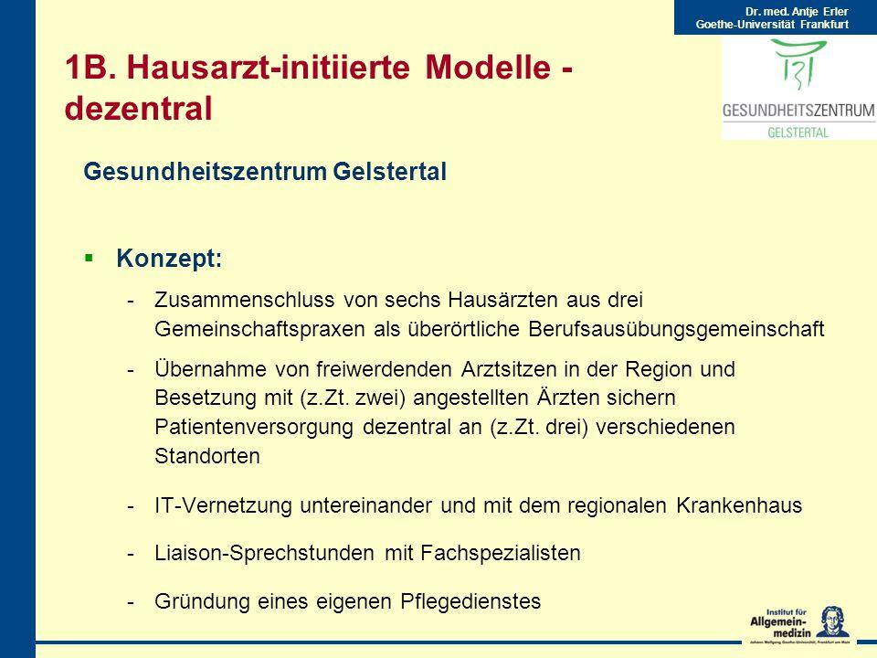 Dr.med. Antje Erler Goethe-Universität Frankfurt 1B.