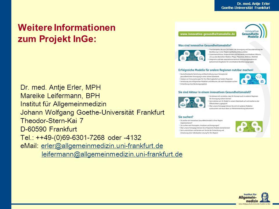 Dr.med. Antje Erler Goethe-Universität Frankfurt Dr.