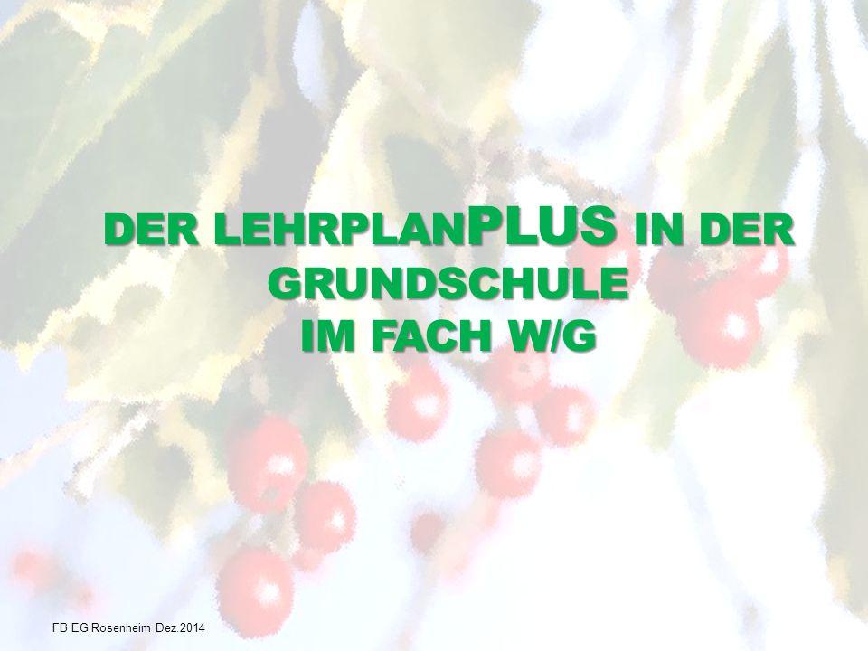 DER LEHRPLAN PLUS IN DER GRUNDSCHULE IM FACH W/G FB EG Rosenheim Dez.2014