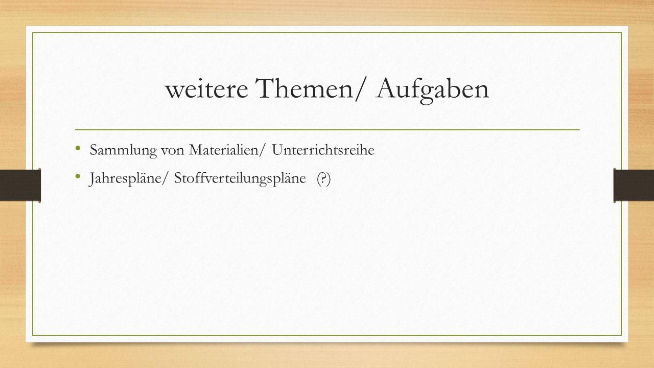 weitere Aufgaben eines Fachbetreuers https://kooperation.schule.bayern.de/.../Unterrichtsentwicklung_Kühne Multiplikatorenaufgabe Qualität (z.B.