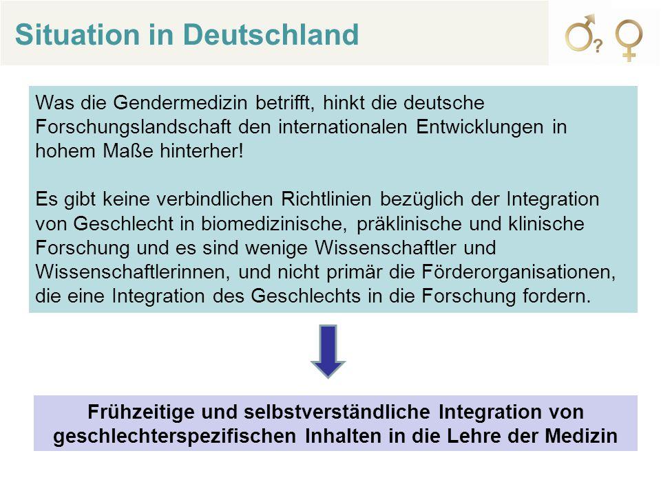 Was die Gendermedizin betrifft, hinkt die deutsche Forschungslandschaft den internationalen Entwicklungen in hohem Maße hinterher.