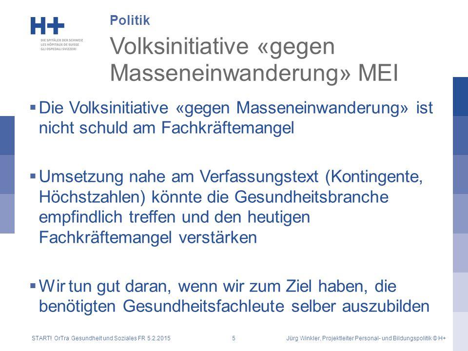 Volksinitiative «gegen Masseneinwanderung» MEI  Die Volksinitiative «gegen Masseneinwanderung» ist nicht schuld am Fachkräftemangel  Umsetzung nahe