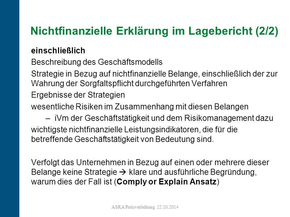 13 Nichtfinanzielle Erklärung im Lagebericht (2/2) einschließlich Beschreibung des Geschäftsmodells Strategie in Bezug auf nichtfinanzielle Belange, e
