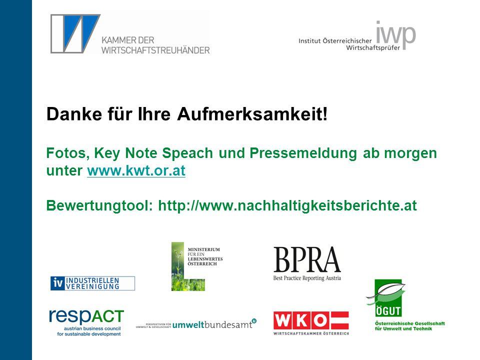 26 Danke für Ihre Aufmerksamkeit! Fotos, Key Note Speach und Pressemeldung ab morgen unter www.kwt.or.at Bewertungtool: http://www.nachhaltigkeitsberi