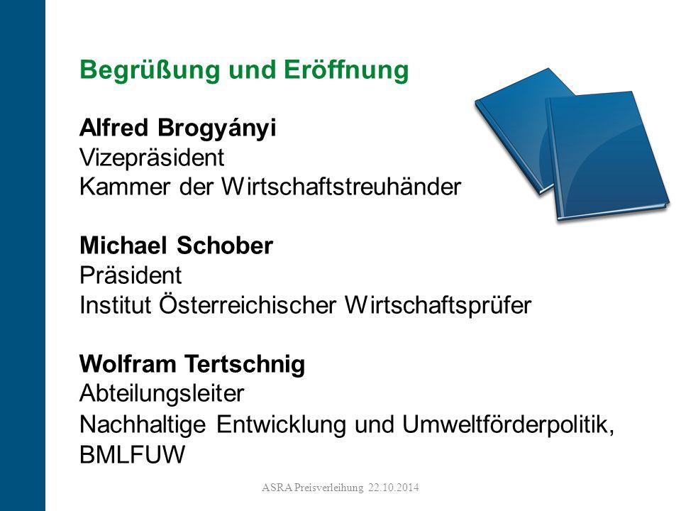 4 Begrüßung und Eröffnung Alfred Brogyányi Vizepräsident Kammer der Wirtschaftstreuhänder Michael Schober Präsident Institut Österreichischer Wirtscha