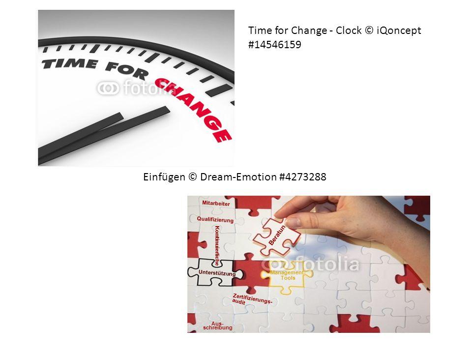 Time for Change - Clock © iQoncept #14546159 Management- Tools Aus- schreibung Unterstützung Kontinuierliche Qualifizierung Beratun Einfügen © Dream-E