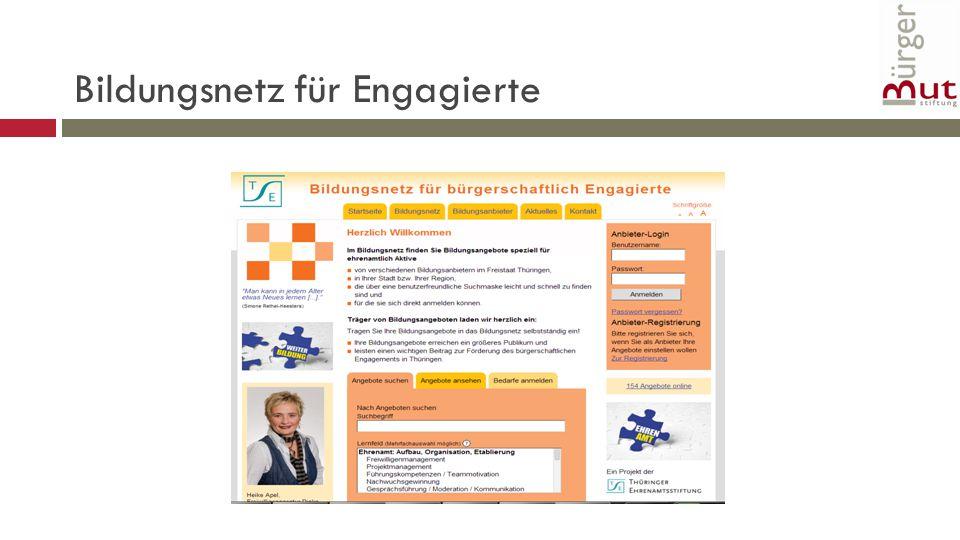 Bildungsnetz für Engagierte