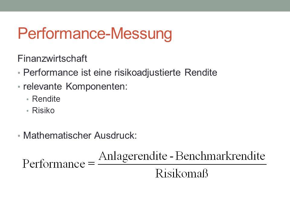 Beispiel Performancemaße von Aktienfonds Ergebnis Reihung nach bester Kennzahl 1.