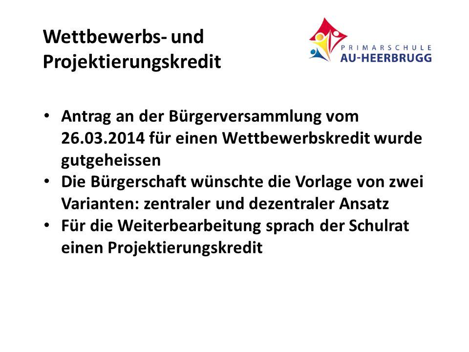 VARIANTE ZENTRAL Für den Neubau des Kindergartens mit vier Einheiten, inkl.