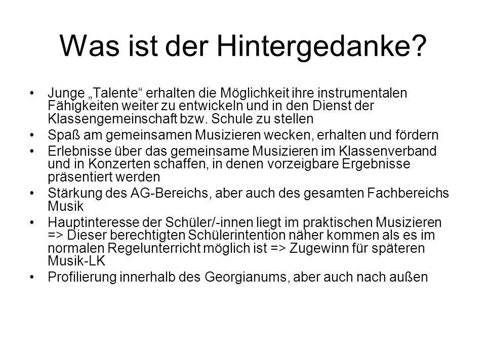"""Stärkung des Musiklebens am Georgianum.Orchesterbereich Vororchester """"Streicherchor (J."""