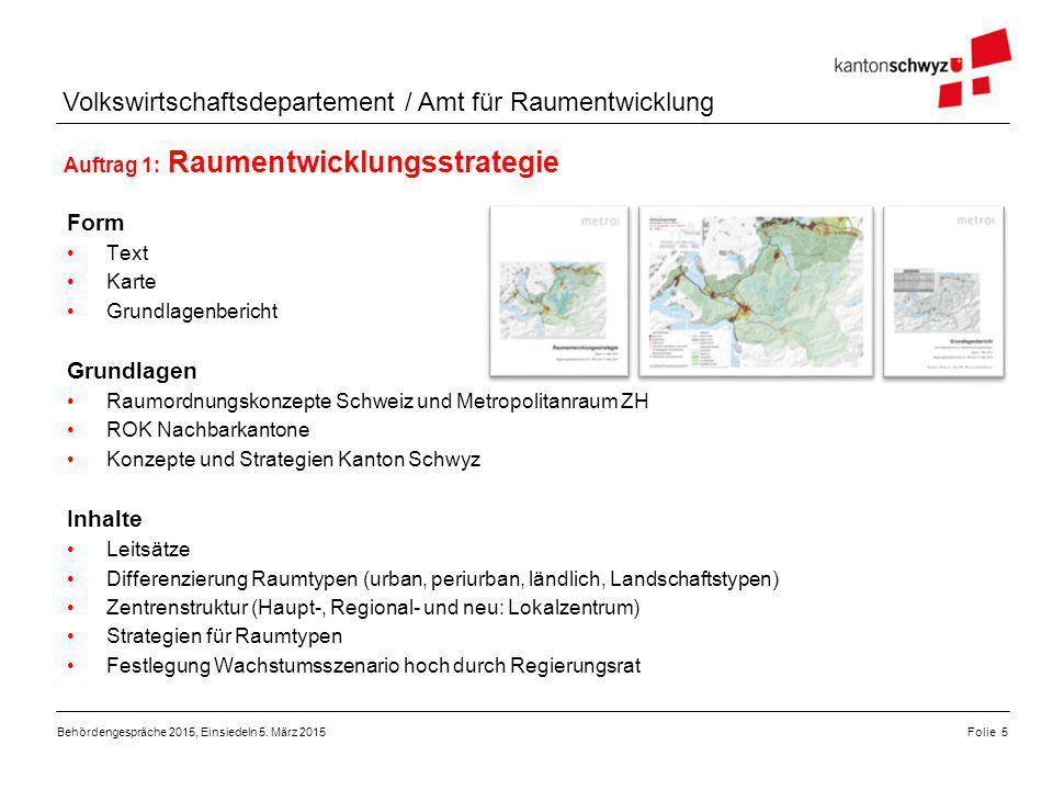 Volkswirtschaftsdepartement / Amt für Raumentwicklung Form Text Karte Grundlagenbericht Grundlagen Raumordnungskonzepte Schweiz und Metropolitanraum Z