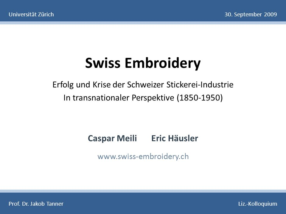 Swiss Embroidery 8.