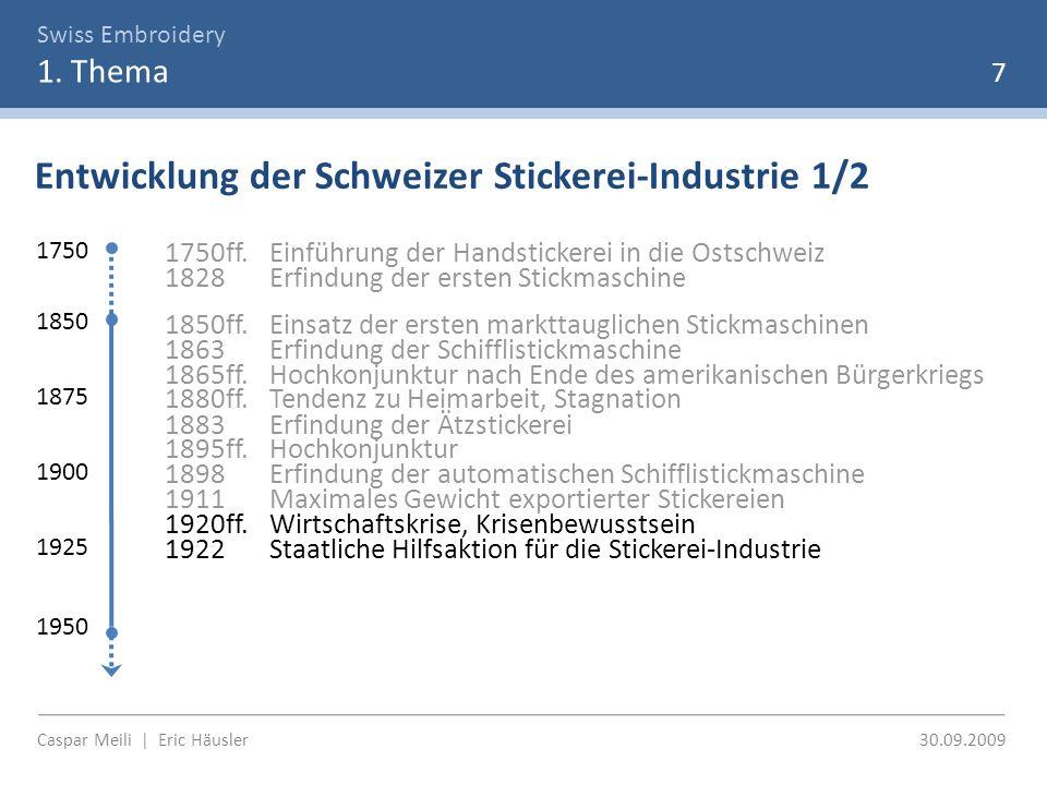 Swiss Embroidery 1.Thema Bedeutung der Stickerei-Industrie Bundesblatt 1922, Bd.