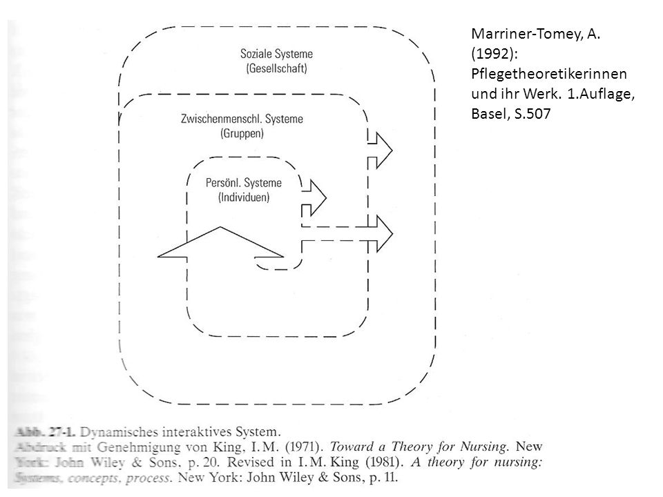 praktische Umsetzung Curriculumplanung, Graduiertenprogramme Hypothesen für Forschung in Unis in den USA – Kongress 1988 – Pflegeforschungsprojekte – Dissertationen und Abschlussarbeiten Entwicklung von Messinstrumenten zur Zielerreichung Erfolgreiche Anwendung der Theorie nur unter vielen Voraussetzungen möglich