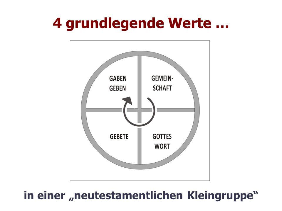 """4 grundlegende Werte … in einer """"neutestamentlichen Kleingruppe"""""""