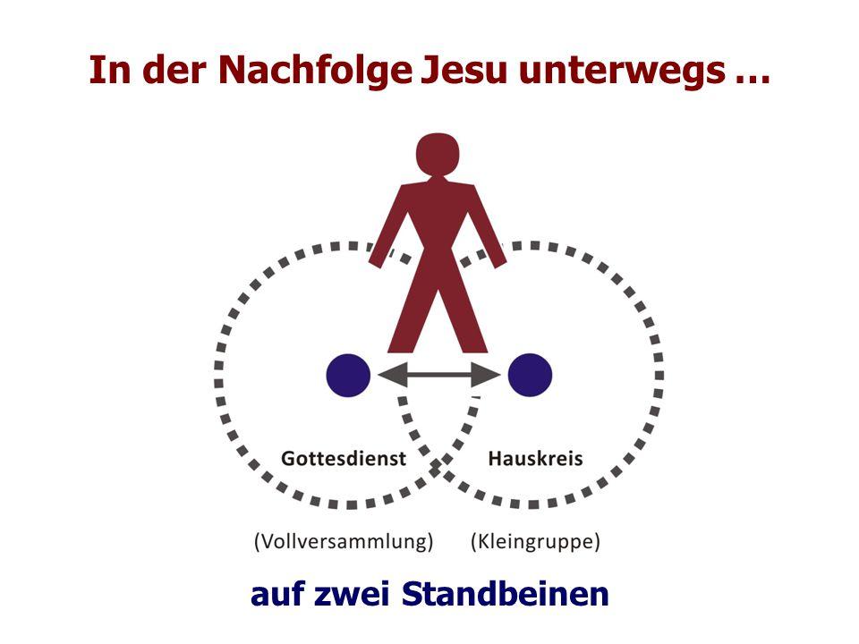 In der Nachfolge Jesu unterwegs … auf zwei Standbeinen