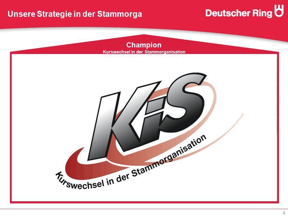 4 Unsere Strategie in der Stammorga Champion Kurswechsel in der Stammorganisation