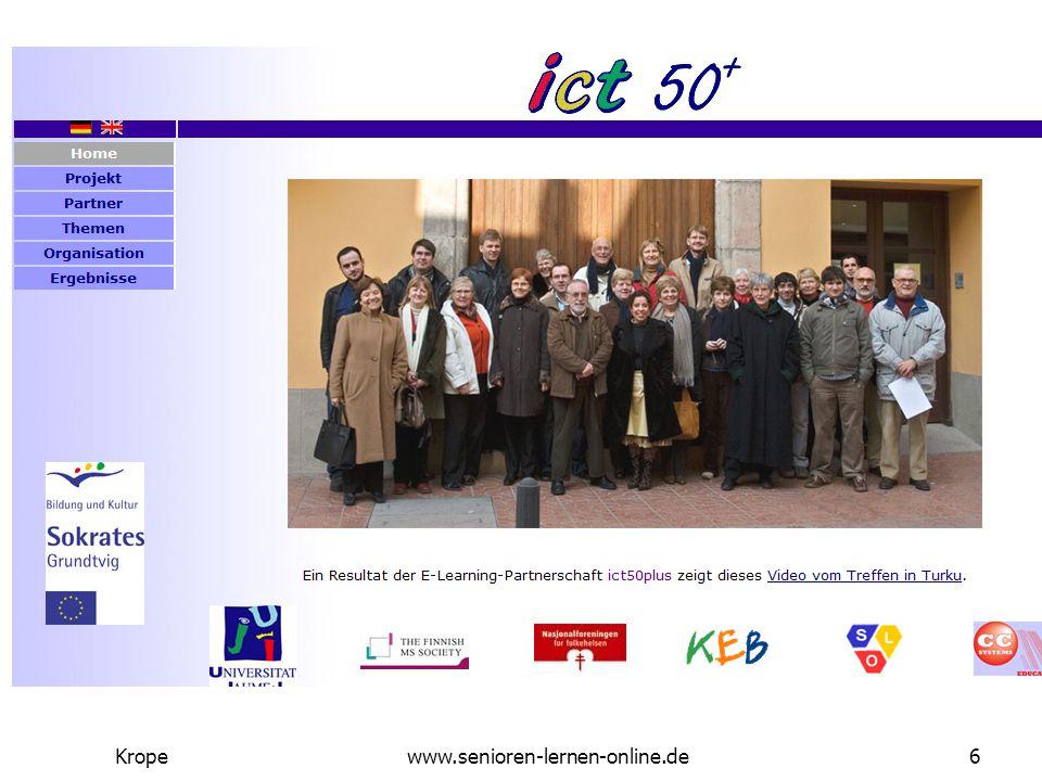 Senioren Lernen Online Kropewww.senioren-lernen-online.de17 Was macht ein seniorengerechtes Lernkonzepte aus.