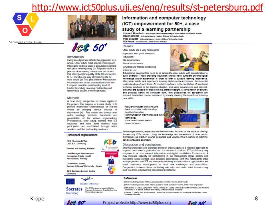 Senioren Lernen Online Kropewww.senioren-lernen-online.de19 http://www.sinus-sociovision.dehttp://www.sinus-sociovision.de/