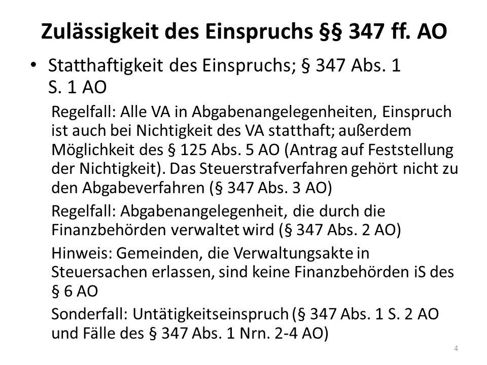 Bsp.: Einlage einer wesentlichen Beteiligung Sachverhalt: A ist an der X GmbH mit 5 % beteiligt.