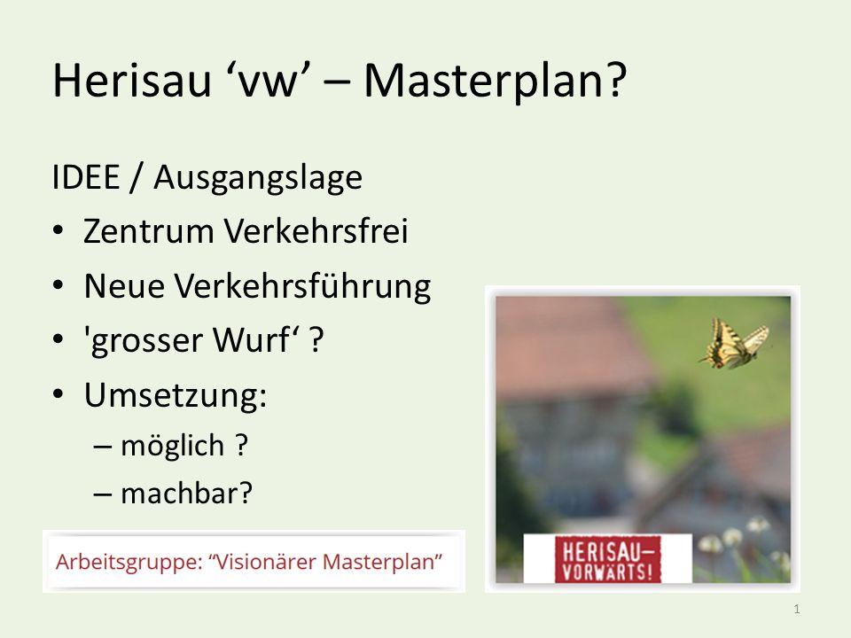 Herisau 'vw' – Abgrenzungen nur Dorfkern wird betrachtet Dorfkern wird/darf nicht mehr für Durchgangs-Verkehr genutzt werden Umfahrung .