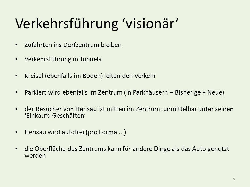 Neue Verkehrsführung (prospektiv) Coop 'alt' Coop 'neu' Löwen xyz 'neu' Gutenberg Migros 'neu' Verkehr im Tunnel Verkehr 'NEU-normal' eventuell im Tunnel 7