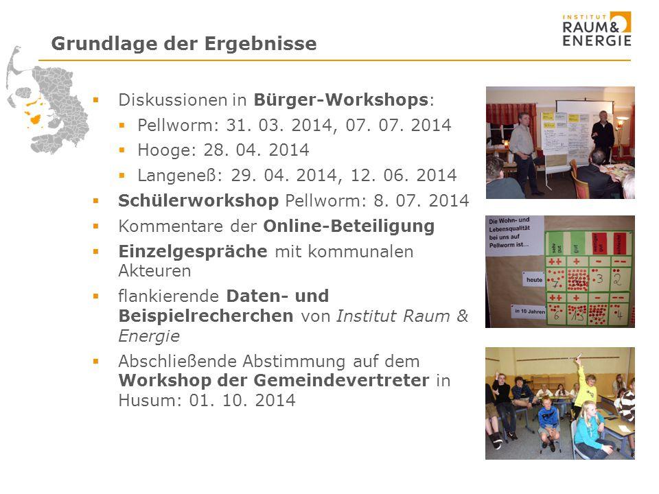 Diskussionen in Bürger-Workshops:  Pellworm: 31.