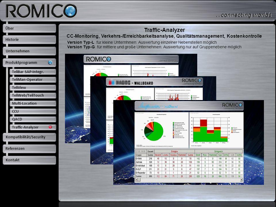 Traffic-Analyzer CC-Monitoring, Verkehrs-/Erreichbarkeitsanalyse, Qualitätsmanagement, Kostenkontrolle Version Typ-L für kleine Unternhmen: Auswertung