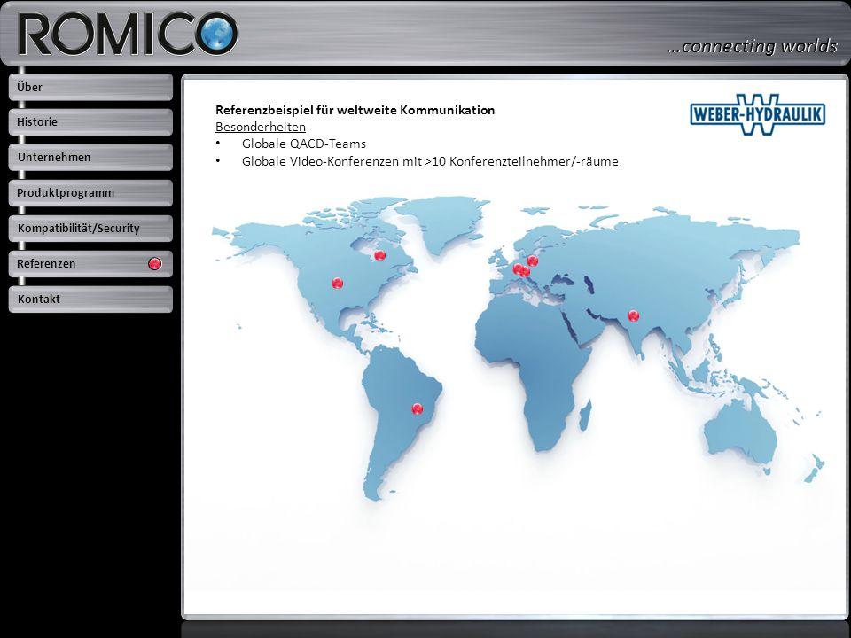 Referenzbeispiel für weltweite Kommunikation Besonderheiten Globale QACD-Teams Globale Video-Konferenzen mit >10 Konferenzteilnehmer/-räume Über Unter