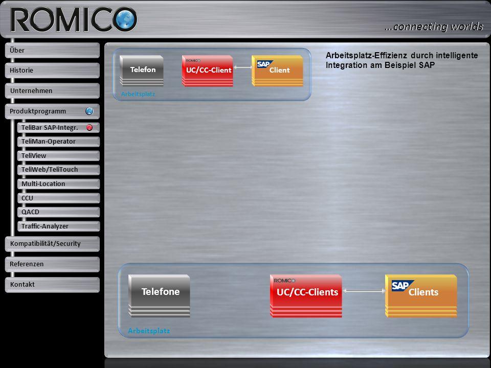 Arbeitsplatz Telefon Client UC/CC-Client Arbeitsplatz-Effizienz durch intelligente Integration am Beispiel SAP Arbeitsplatz Telefone ClientsUC/CC-Clie