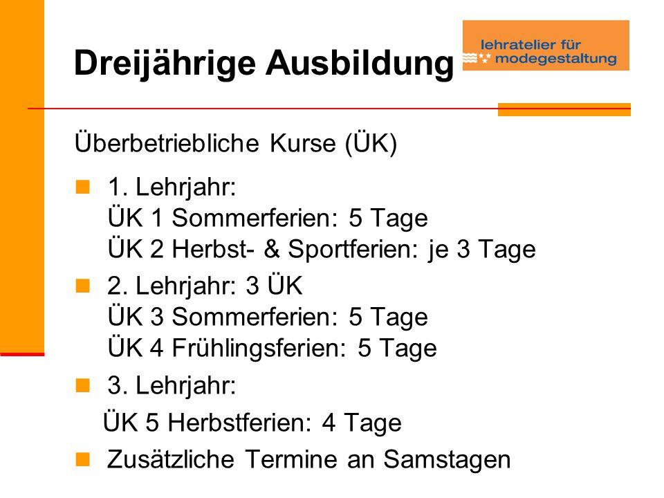 Dreijährige Ausbildung Überbetriebliche Kurse (ÜK) 1.