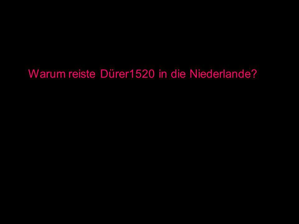 Warum reiste Dürer1520 in die Niederlande?