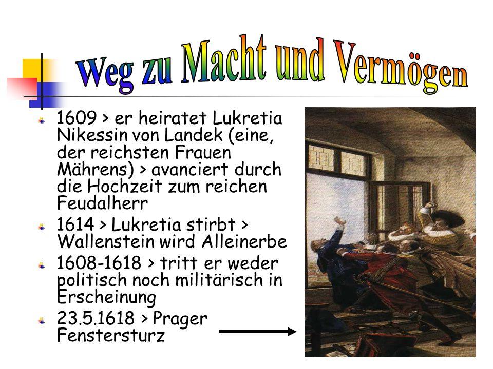 25.2.1634 > drei Offiziere und eine ein paar Soldaten dringen im Stadthaus am Marktplatz von Eger ein und erstechen Albrecht Wenzel Eusebius von Wallenstein.