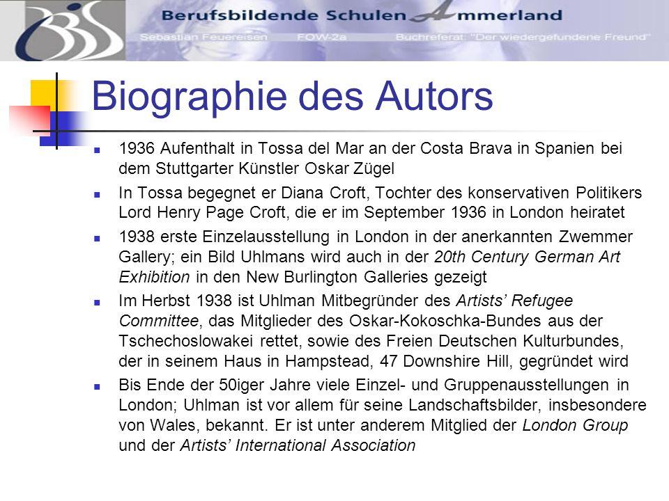 Biographie des Autors 1960 erscheint Uhlmans Autobiographie The Making of an Englishman im Victor Gollancz Verlag.