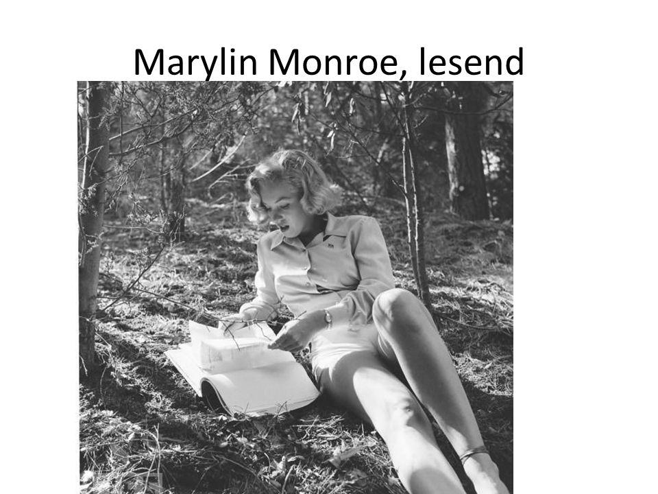 Marylin Monroe, lesend