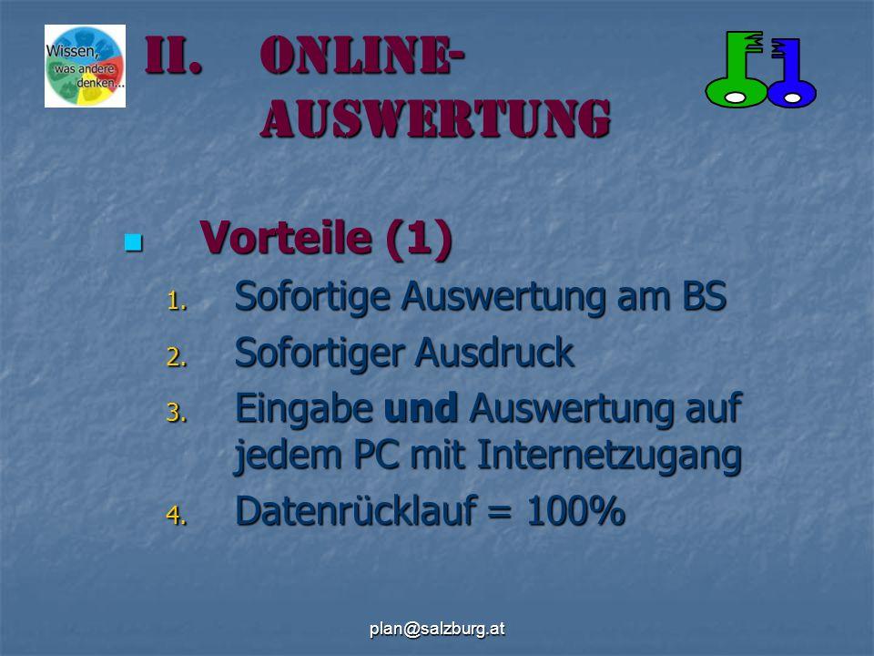 plan@salzburg.at II.Online- Auswertung Vorteile (1) Vorteile (1) 1.