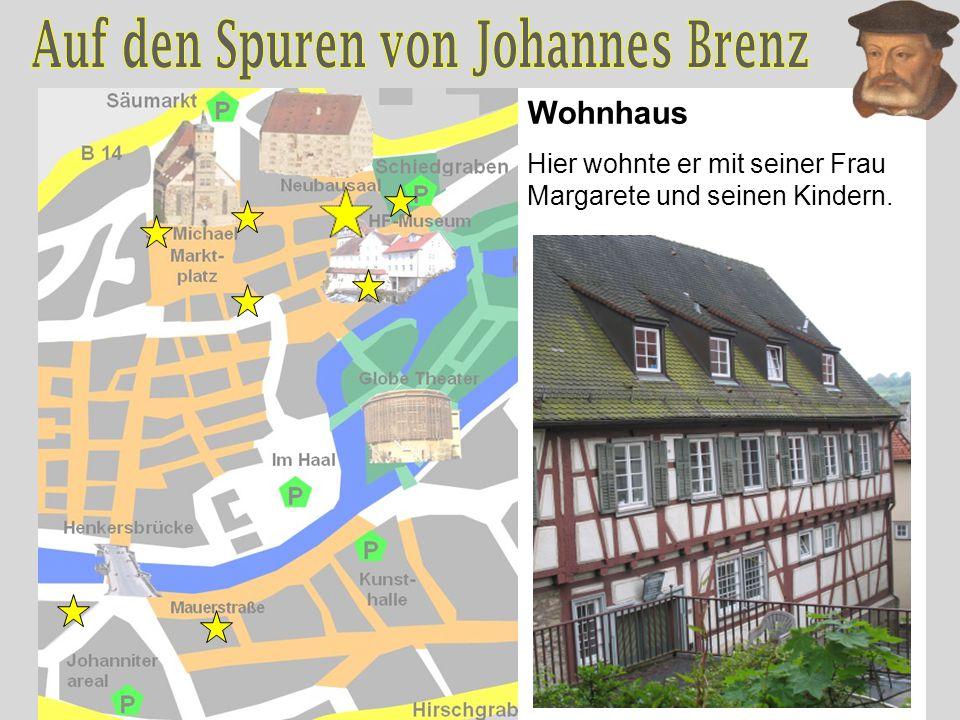 Wohnhaus Hier wohnte er mit seiner Frau Margarete und seinen Kindern.